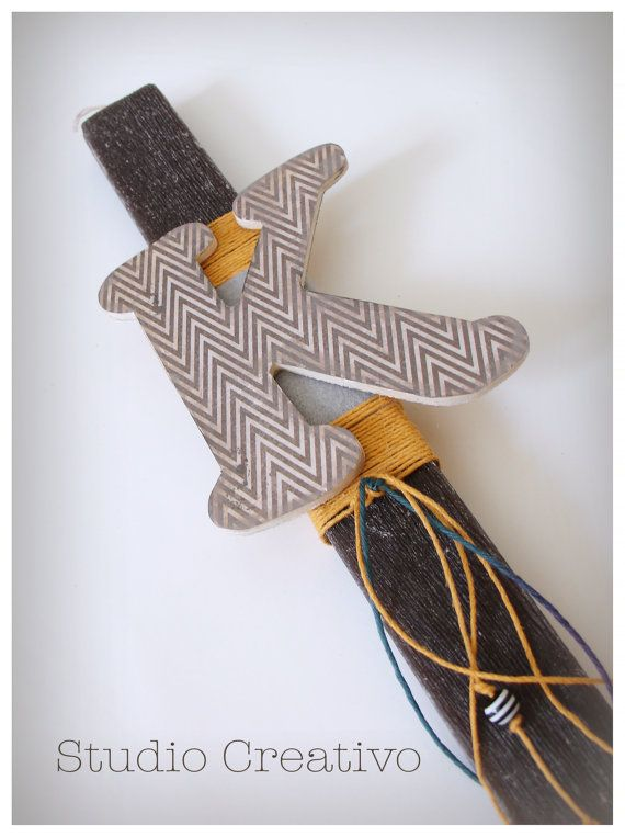 Letter K -  Easter Candle - Aromatic handmade candle
