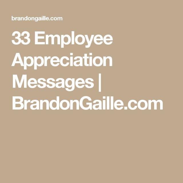 33 Employee Appreciation Messages | BrandonGaille.com