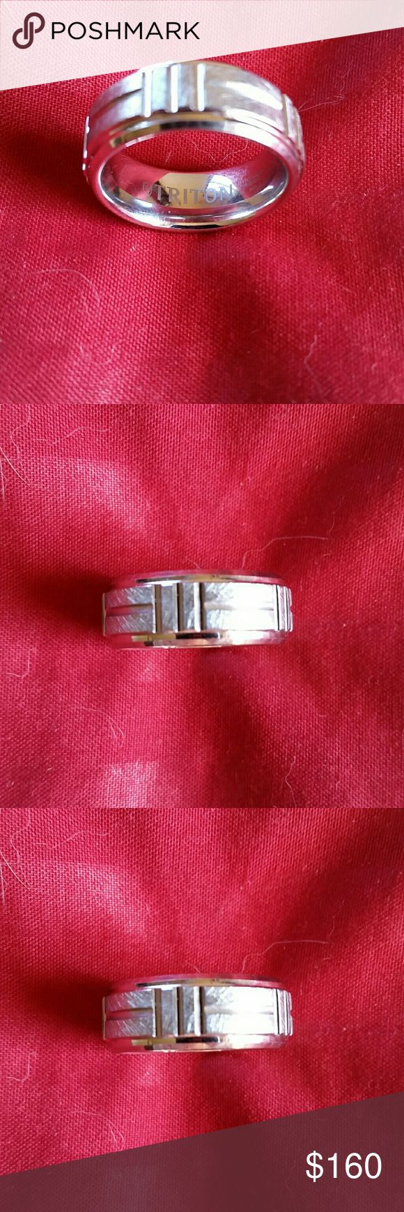 TRITON (Tungsten Carbide Mens Ring) TC 850 Size 9. Tungsten Carbide extemely strong to never scratch or dent. TRITON Accessories Jewelry
