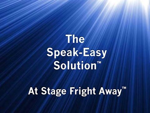 Overcome stage fright - Stage Fright Away
