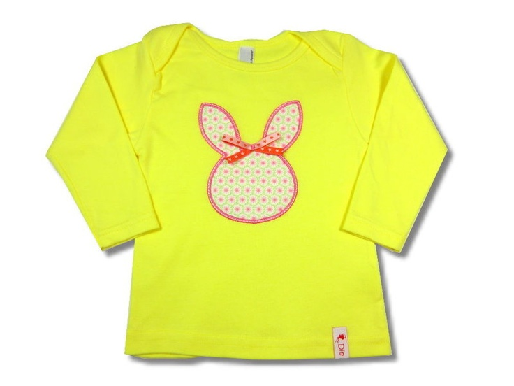 *Mrs. Bunny*    Longsleeve     embroidered with bunny appliques    shirt: american apparel