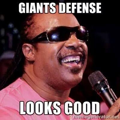 Giants defense looks good