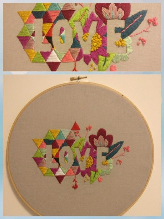 LOVE embroidery (July 2017)