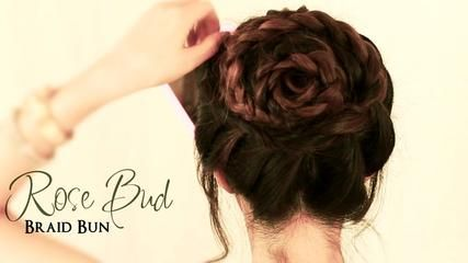 ▶ How to Do a Rose Bud Braid Bun | Cute Hairstyles for Medium Long Hair Tutorial - Video Dailymotion