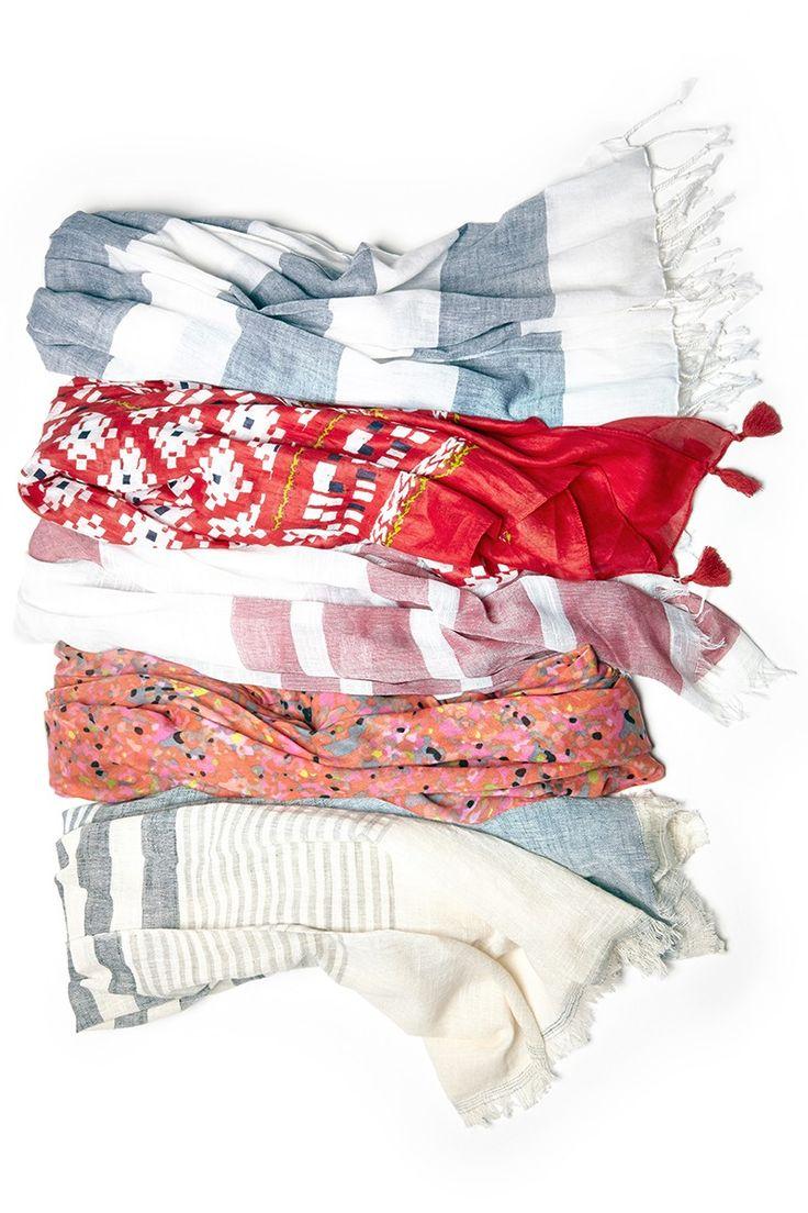 Lightweight soft scarves