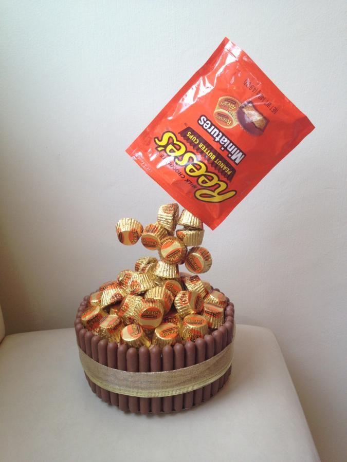 Reece's miniatures gravity cake
