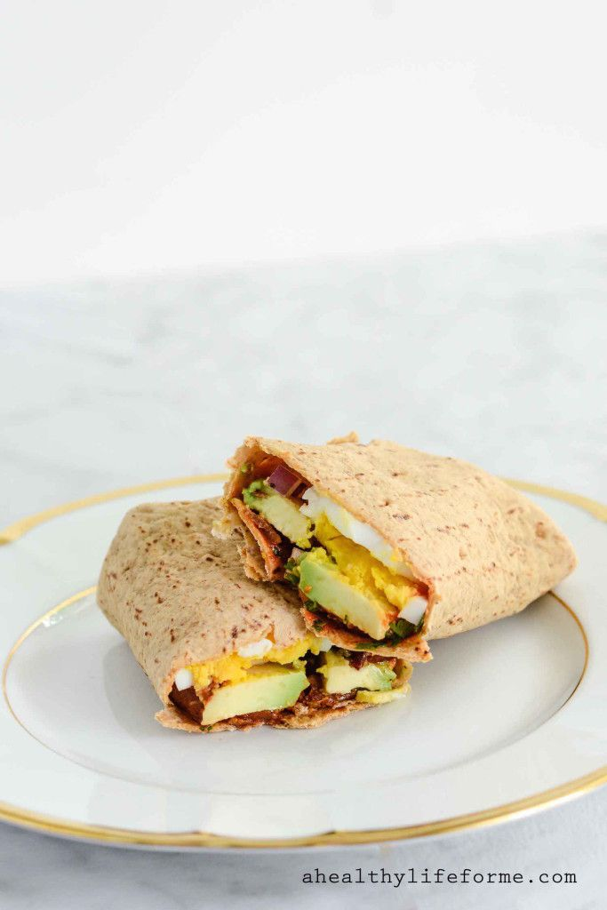 Egg And Avocado Wrap Healthy Low Carb High Protein Recipe