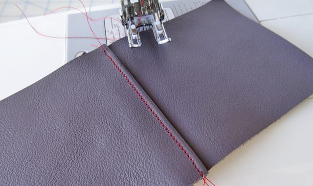 Leather is simple to sew on a standard sewing machine. The tutorial is easy to follow ...................