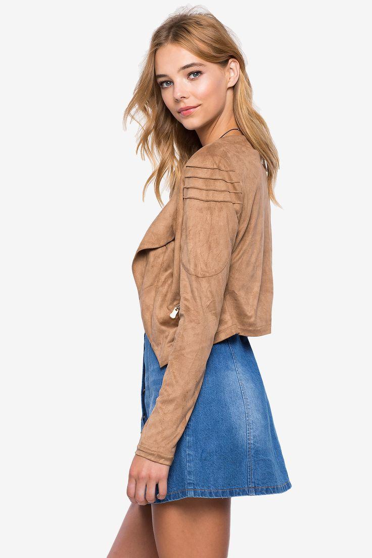 Замшевая куртка Размеры: S, M, L Цвет: бежевый Цена: 2482 руб.  #одежда #женщинам #куртки #коопт