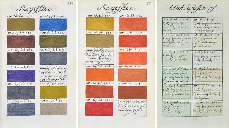 Рукопись XVII века по созданию красок, о том, как смешивать и изменять тон – подробное руководство об использовании цвета для современного дизайнера