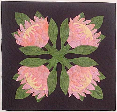 Protea pattern by Keri DukeQuilts 2, Quilt Inspiration, Quilt Ideas, Hawaiian Quilt, Applique Quilt, Quilt Blocks, Quilts Hawaiian, Crafts Quilt