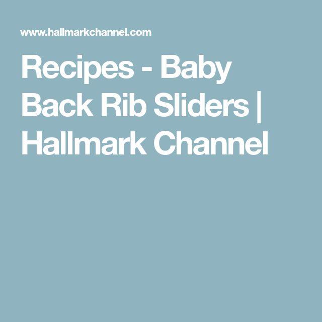 Recipes - Baby Back Rib Sliders | Hallmark Channel