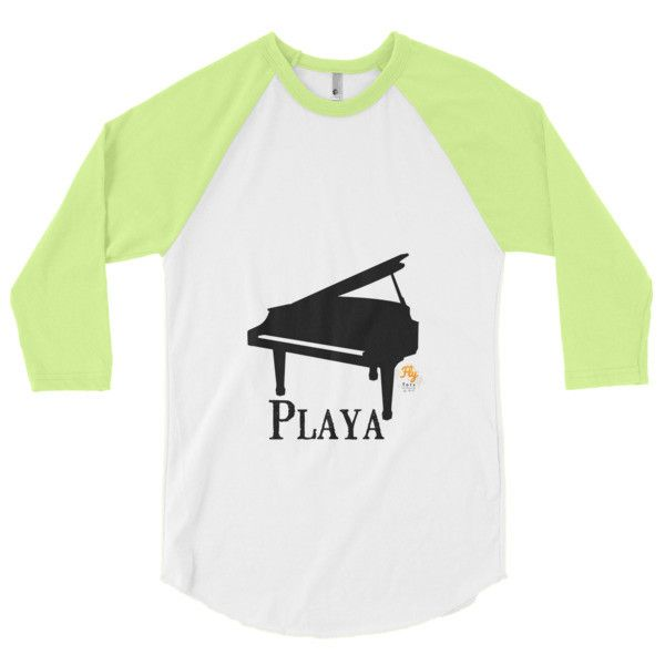 Playa Fly Tots piano playa 3/4 sleeve raglan shirt