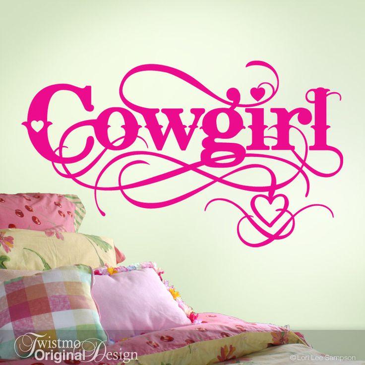 Cowgirl Wall Decal - Cowgirl Decor - Girls Room Vinyl Decal - Baby Girls Nursery Decal - Horse Lovers Western Baby Nursery by Twistmo on Etsy https://www.etsy.com/listing/265424984/cowgirl-wall-decal-cowgirl-decor-girls