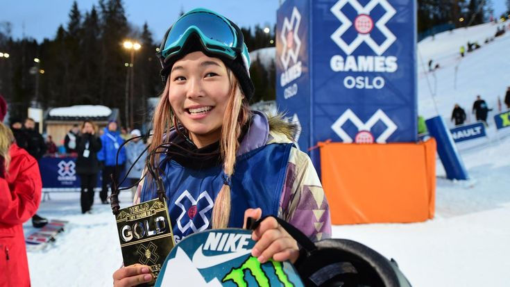 """Chloe Kim - Chloe is front-and-center in women's snowboarding. She won her second-consecutive X Games gold at Aspen 2016, becoming the 2nd woman to land a 1080 at XG. She earned her first XG medal (silver) at age 13 & is the only X Games athlete ever to win 2 golds before age 16.  A tri-lingual, first-generation American, she's the youngest member of the U.S. Snowboard """"Pro"""" team."""