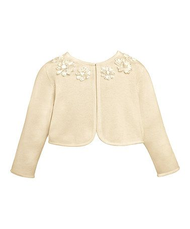 Look what I found on #zulily! Candlelight Floral Jacket - Toddler by American Princess #zulilyfinds