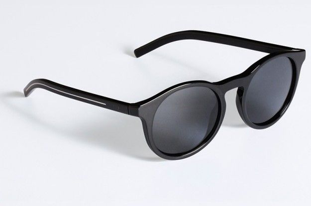 Occhiali da sole tondi neri Dior