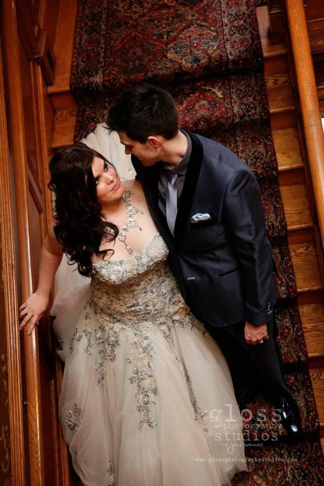 Vintage Blush Wedding Dress Plus Size