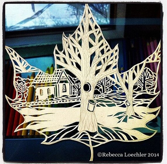 Hey, I found this really awesome Etsy listing at https://www.etsy.com/listing/210002463/maple-sugaring-winter-leaf-paper-cut-out