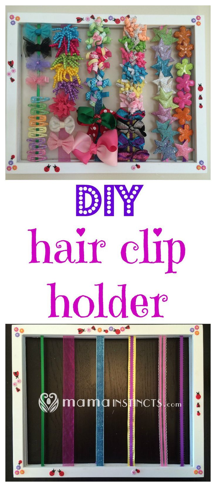 Learn how to make a hair clip holder in under 10 minutes with just a picture…