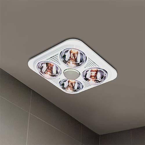 Waco 4 Light Ceiling Mount Bathroom Heater