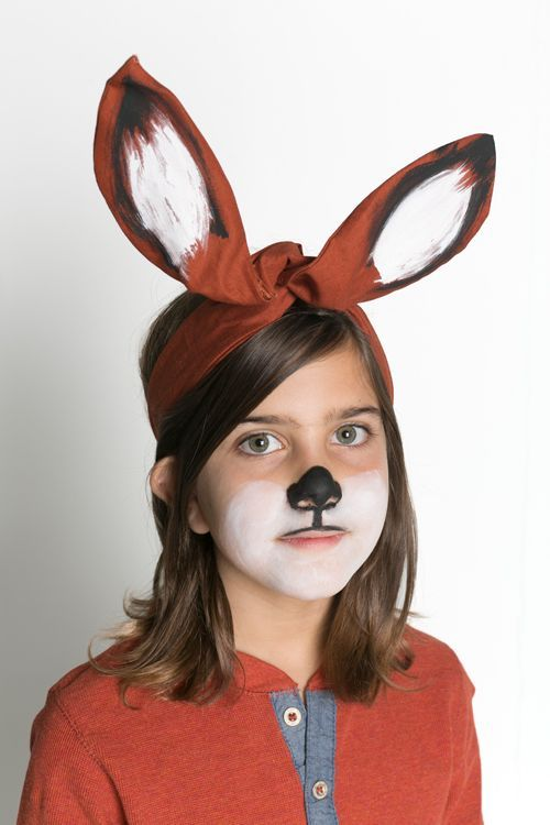 costume ears made from a headwrap.  Great for fox, wolf, kangaroo and more.  Simply paint with acrylic paint!