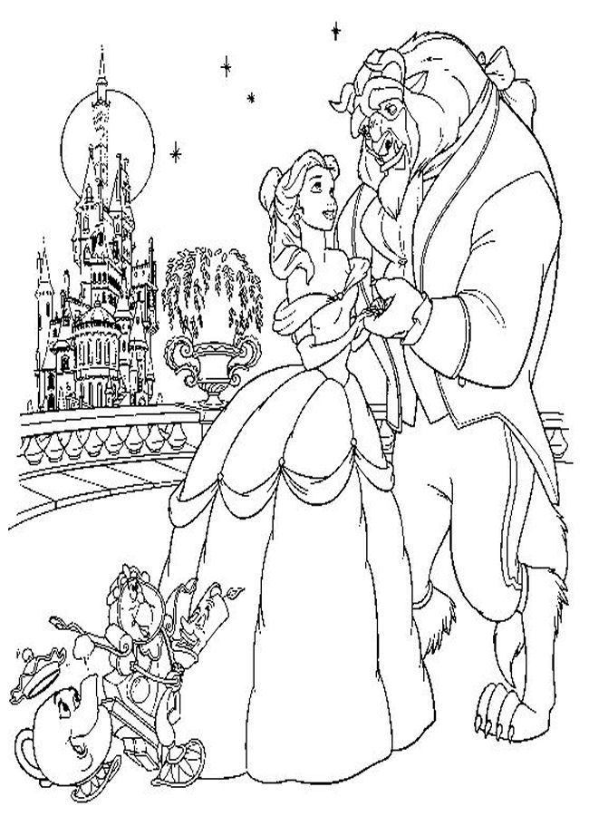 Beauty and The Beast Disney coloring pages, Disney