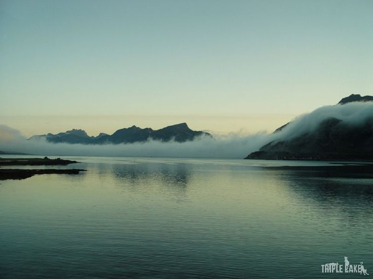 Fog on the Lofoten islands