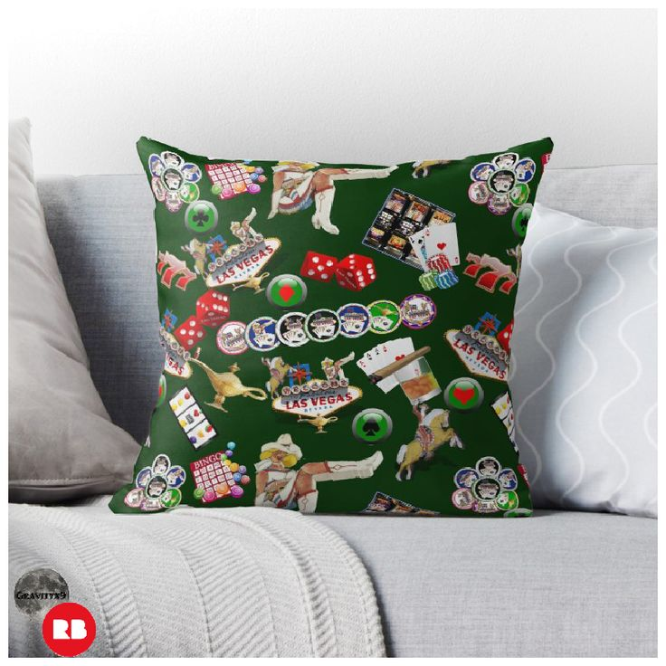'Las Vegas Icons ' Throw Pillow by Gravityx9 | ``Las Vegas ...