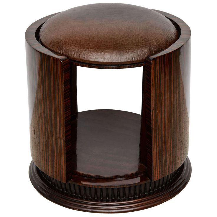 An Art Deco Ebony De Macassar Stool, France, 1930s   From a unique collection of antique and modern stools at https://www.1stdibs.com/furniture/seating/stools/