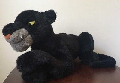 """Disney Vintage Bagheera Jungle Book 20"""" Black Panther Rare Plush Stuffed Animal"""