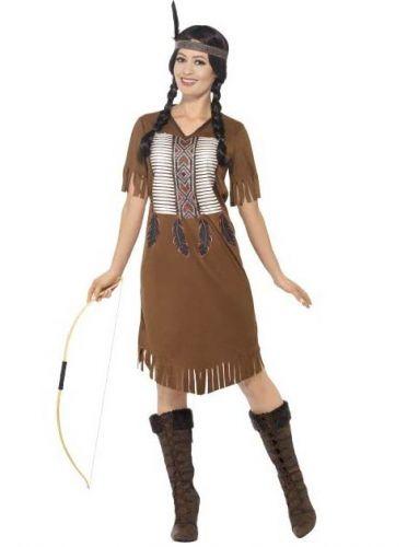 Disfraz de india con flecos mujer
