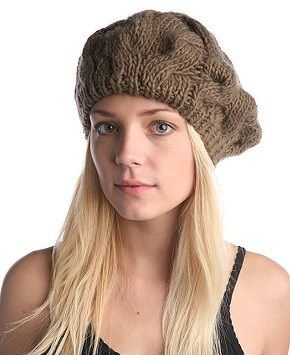 Модная шапка - берет спицами от Kim Hargreaves