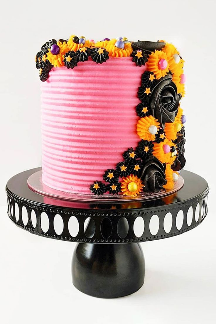 3piece modern round metal ribbon cake stand set black