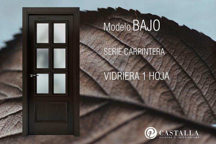Puertas con cristal | Modelo Bajo | Serie Carpintera | Puertas de interior | Puertas Castalla