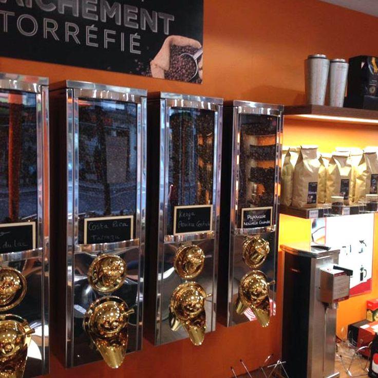Café fraichemetn torréfié chez Coffea #coffee #coffea #torréfaction #café