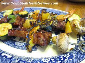 Country at Heart Recipes: Steak and Shrimp Shish Kabobs