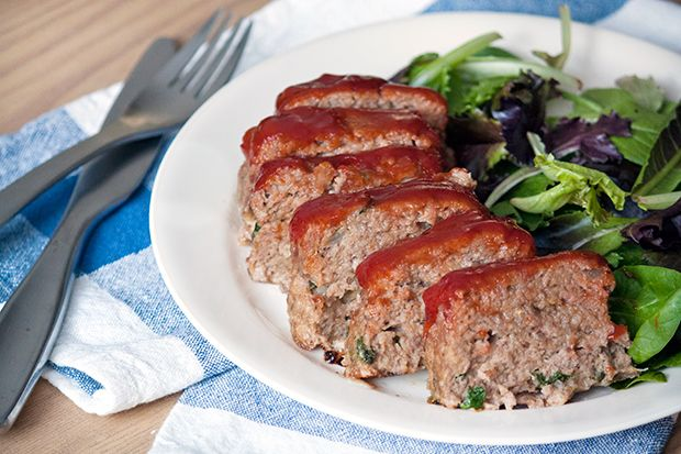 Swap veal and pork for lean turkey to make a healthier mini meatloaf! #recipes