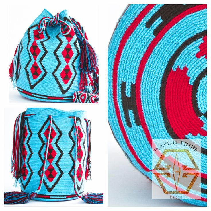 Visit www.Wayuutribe.com to see more Mochilas and boho bags styles. These bags are known as the Susu bag to the Wayuu people. The average bag takes 10-20 days to hand weave. All bags are Handmade. Wayuu people are use bight different colors and patterns to tell the story of the weaver. These are all one-of-kind bags. Wayuu tribe bags are $148.00. They are woven with cotton thread. A nice beach bag or farmer bag that is very sturdy. #boho #HANDMADE #mochila