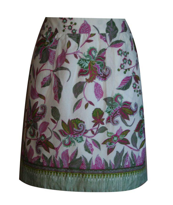 Anthropologie Edme & Esyllte Skirt Medium M Royal Poinciana Cotton Paisley  #EdmeEsyllte #FullSkirt