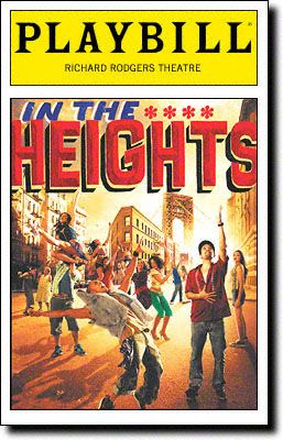 IN THE HEIGHTS / Richard Rodgers Theatre / Opened March 9, 2008 / Closed January 9, 2011 / 1185 performances