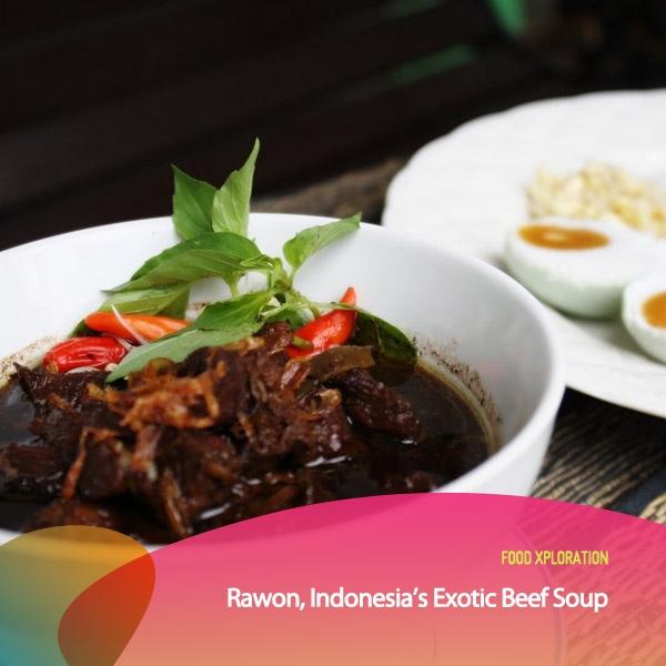 Buat kamu para Food Xplorers pasti tak asing dengan makanan bernama Rawon ini kan? Kuliner asli Jawa Timur ini memang sudah banyak ditemui diberbagai warung-warung makan. Citarasa gurih dari kuah berwarna gelap namun tetap cair ini memang meninggalkan kesan tersendiri di lidah. Perpaduan gurihnya kuah dan kenyalnya daging sapi yang direbus bersamaan memang cocok dinikmati kala lapar siang hari.
