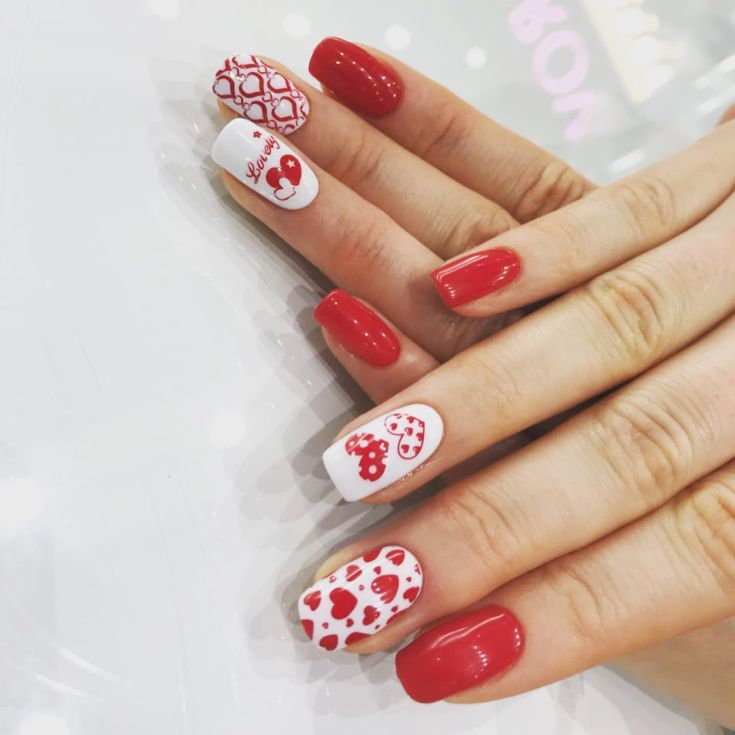 Cute Nail Art Ideas For A Red Manicure Red Nail Art Designs Nail Art Designs Red Nail Art