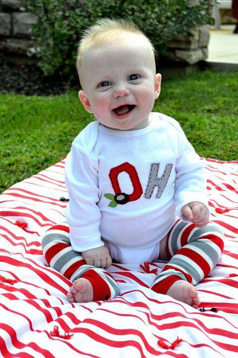 Ohio State onesie - front