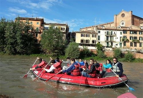 Discesa lungo l'Adige