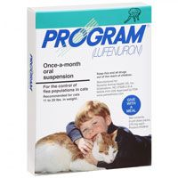Program Oral Suspension 11-20 lbs Cats (Teal) 12 Ampules