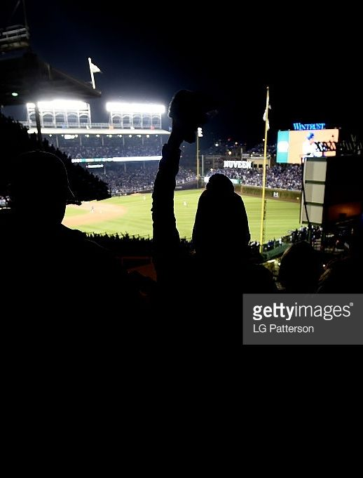 From the Wrigley Rooftops across from Wrigley Field//Oct 28,2016 World Series Game 3 CLE @ CHC