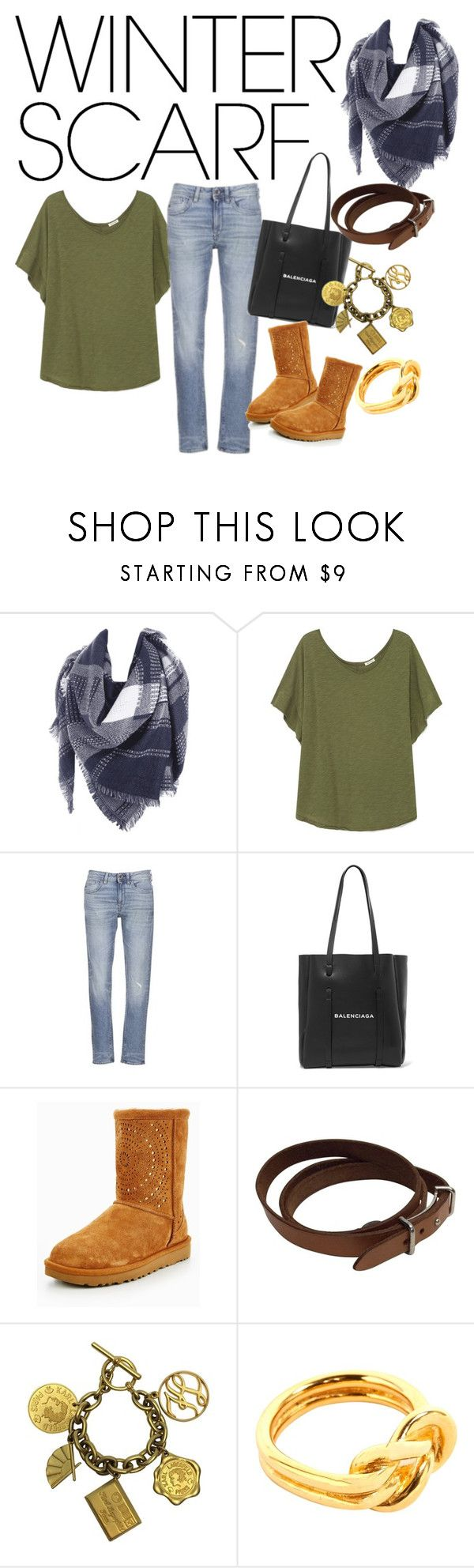 """Scarve"" by heidibartholdy ❤ liked on Polyvore featuring American Vintage, G-Star Raw, Balenciaga, UGG, Hermès and Karl Lagerfeld"