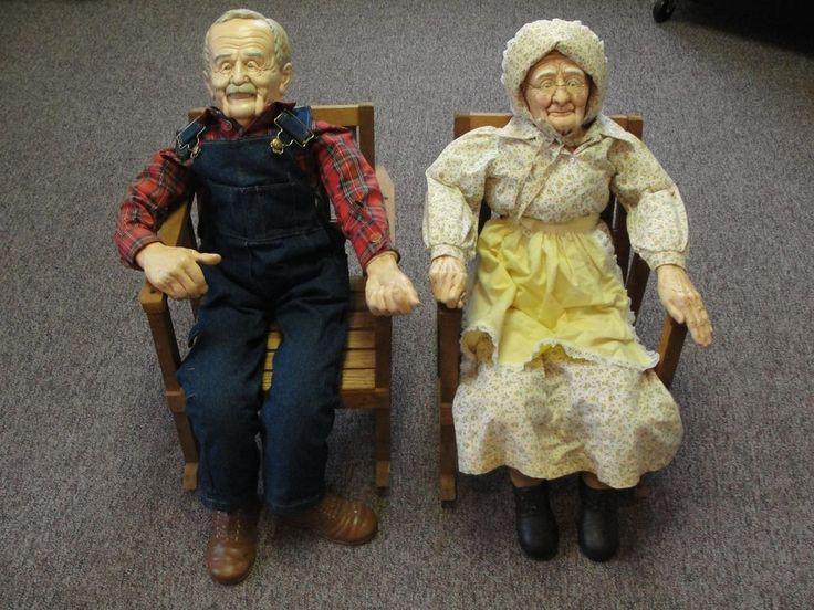 Vintage Ceramic Old Grandma Woman Grandpa Man Porcelain