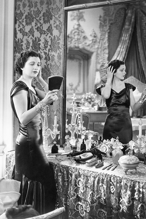 Kay Francis at her beautiful vanity, 1930.